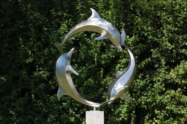 Skulptur Edelstahl, sculpture stainless steel