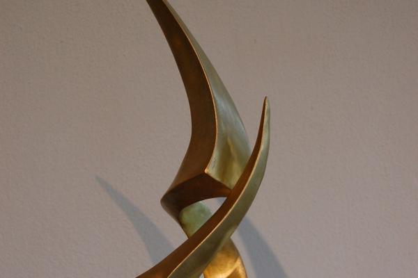 Skulptur Tombak sculpturen brass