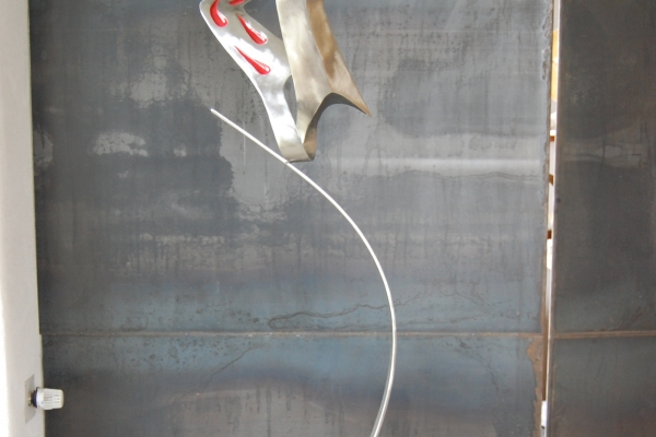 Skulptur, sculpture, Edelstahl, stainless steel