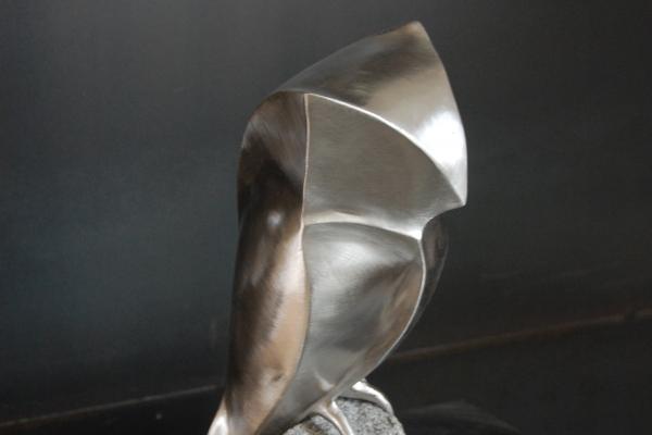 Skulptur, sculpture, Edelstahl, stainlessteel