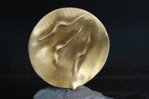 Skulptur, Tombak, Messing, sculpture brass