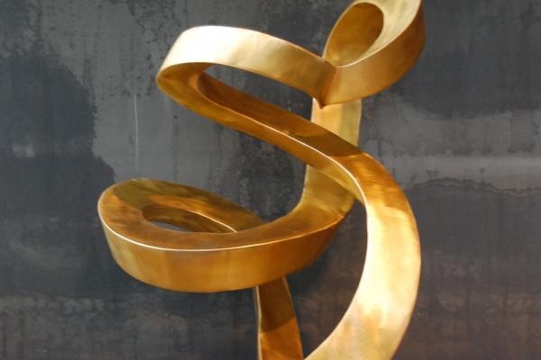 Skulptur Tombak sculpture, brass