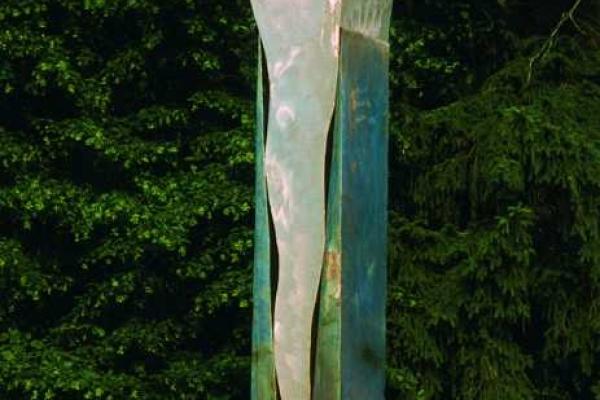 Remo Leghissa, Skulpturen aus Edelstahl und Messing - Sonnenkeil