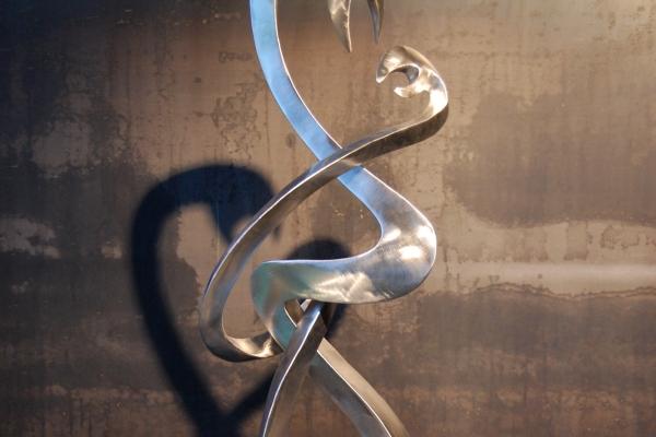 Skulptur, Edelstahl, sculpture sinless steel