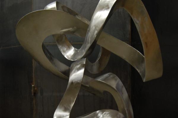 Skulptur, Edelstahl, sculpture stainless steel