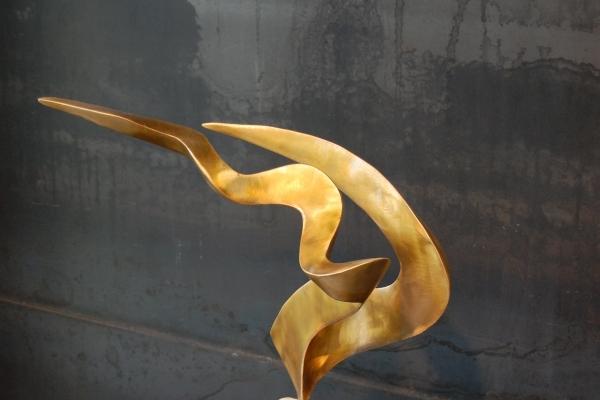 Skulptur, Tombak, sculpture, brass