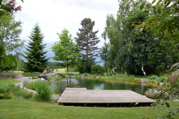 Remo Leghissa, Skulpturenpark - Teich Gesamtansicht
